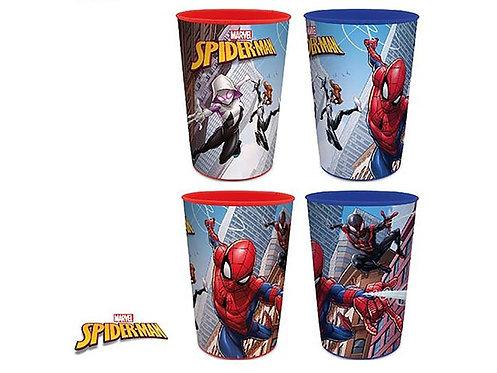 SET 4 Bicchieri Plastica Bambino Bambina Scuola Asilo Spiderman Uomo ragno