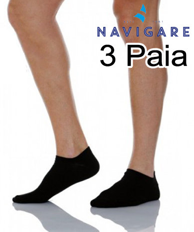 Calze Sneakers Navigare 3 Paia Nere D392