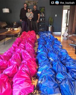 Homeless care backpacks