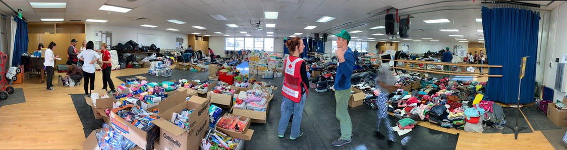 Inside view of donation center