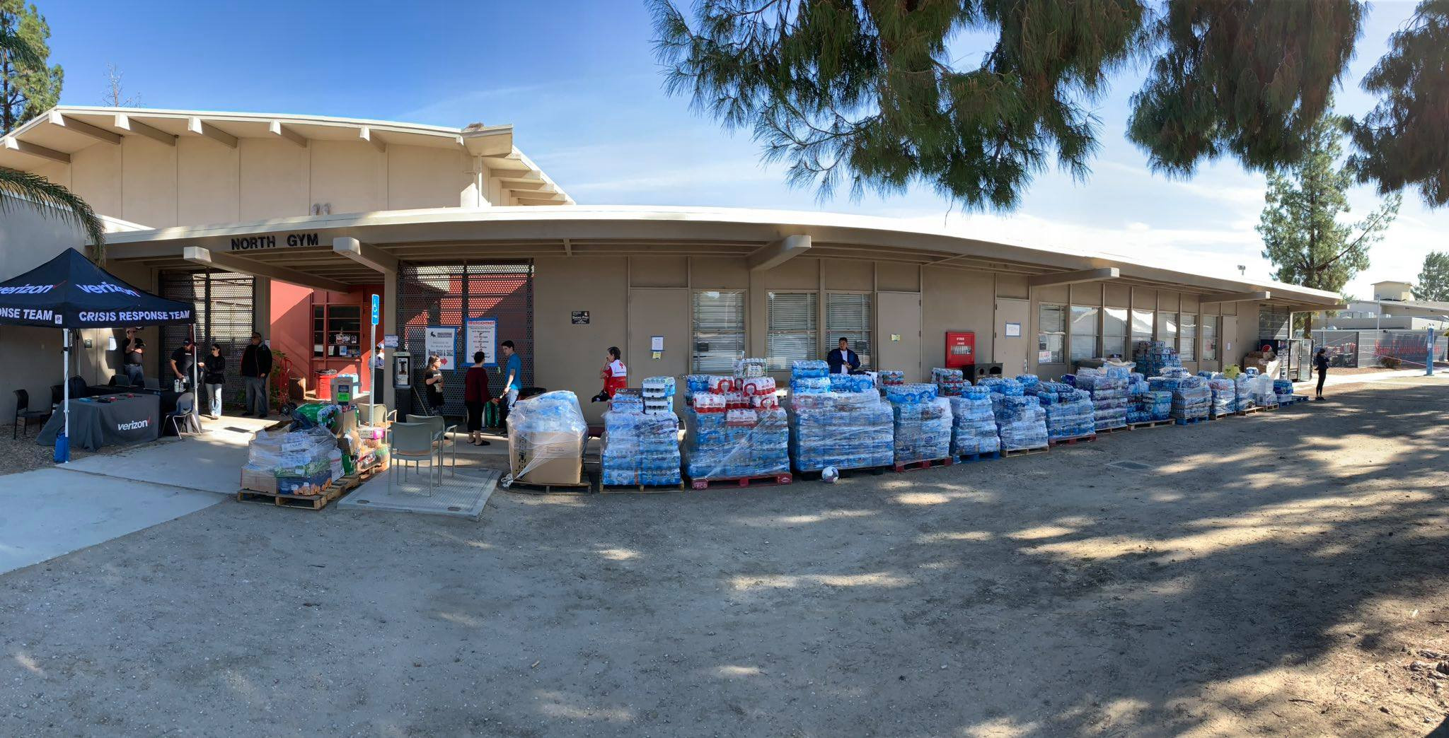 Outside view of donation center