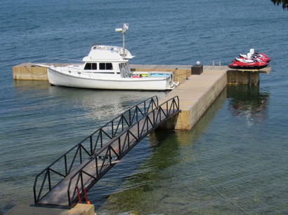 8x160 dock bridge electricity pwc lifts.