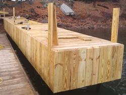 Cedar steel dock decked & staved (2)