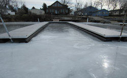 Clayton dock in ice 2