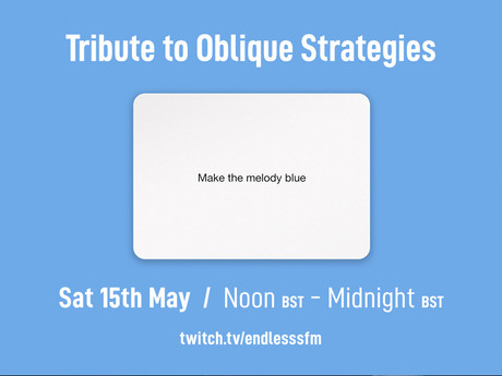 Tribute to Oblique Strategies