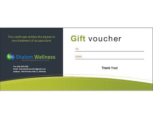 One Treatment Of Acupuncture Gift-Voucher