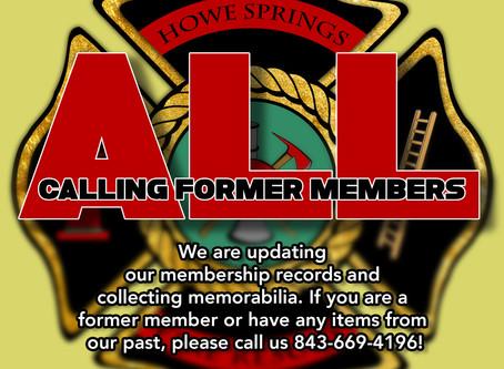 Memorabilia and Member Records