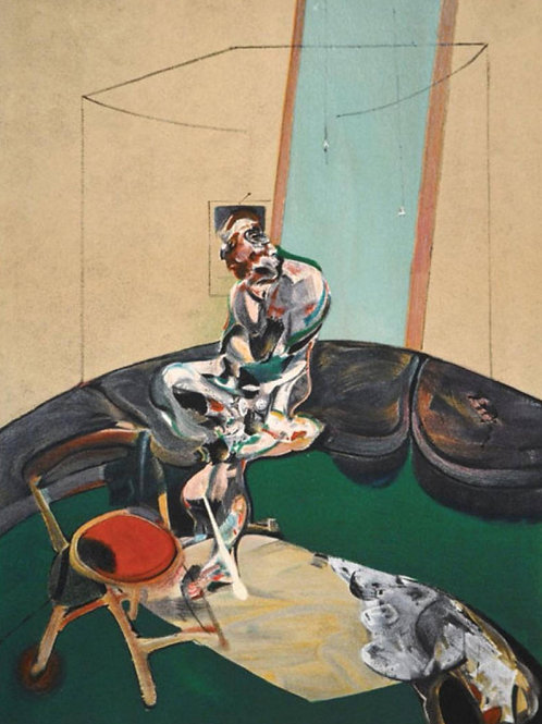 Francis Bacon, Portrait of George Dyer Staring at Blind Cord, 1966