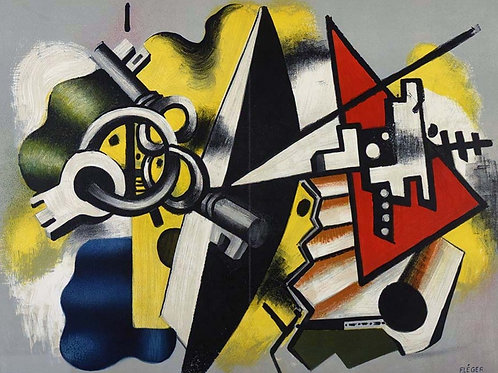 Fernand Leger, Still life with Keys, 1955