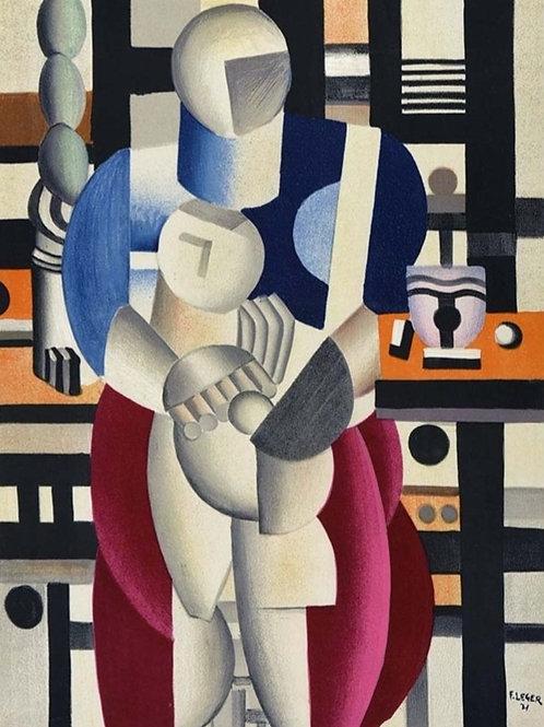 Fernand Leger, La femme et l'enfant,1955