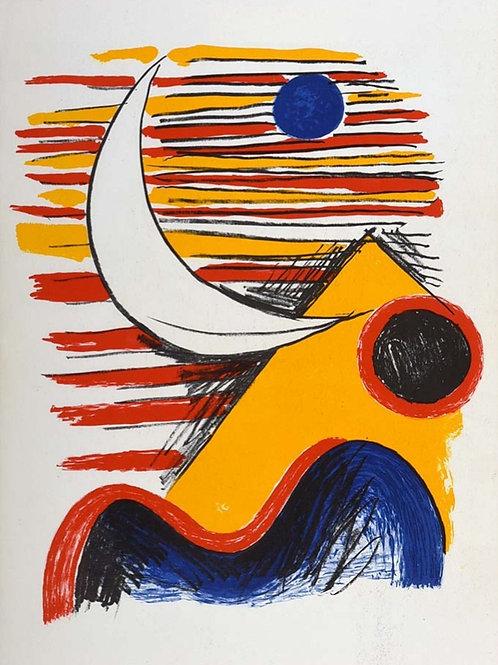 Alexander Calder, Moon and Yellow Mountain, 1966
