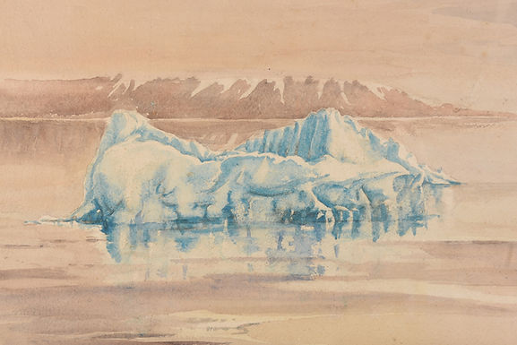 Iceberg by CK Budden 1937 Watercolour