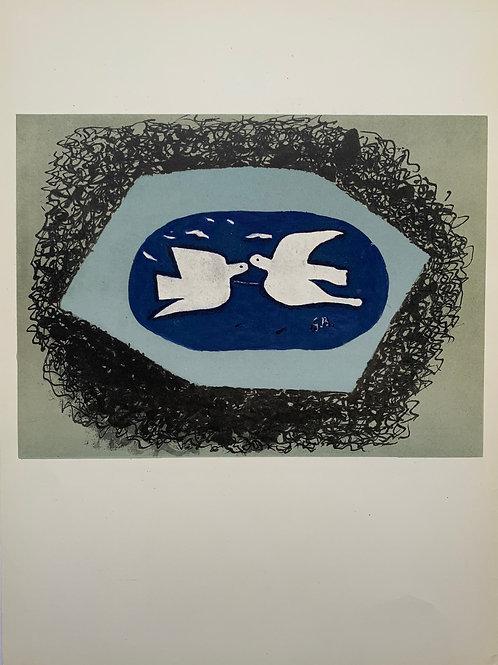 Georges Braque, Blue Bird from Derniers Messages 1967