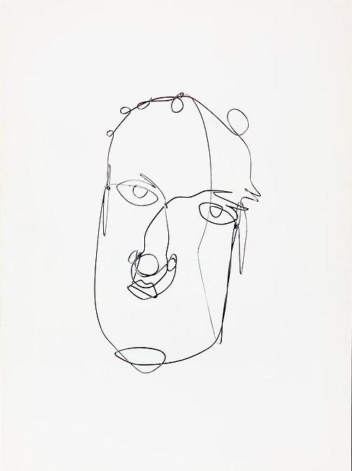 Alexander Calder, Wire Portrait, 1981