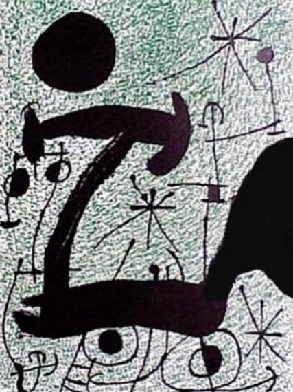 Joan Miro,  L'Oiseau Solaire, L'Oiseau Lunaire,  Etincelles, 1967s, 1967