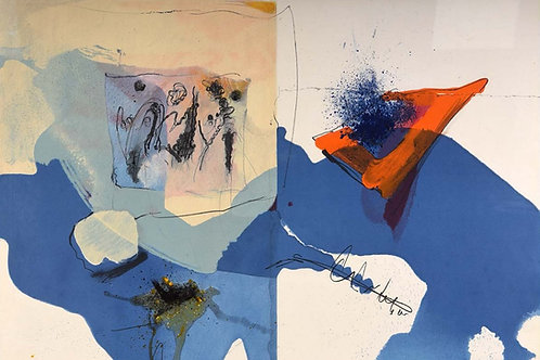 Paul Rebeyrolle, abstract lithograph, 1967