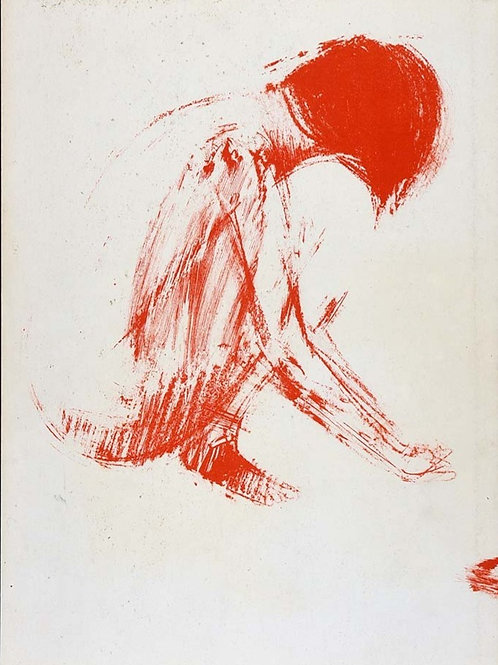 Claude Garache, Female Nude, Original Lithograph,