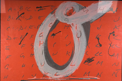 Antoni Tapies, Letter O, original lithograph, 1968
