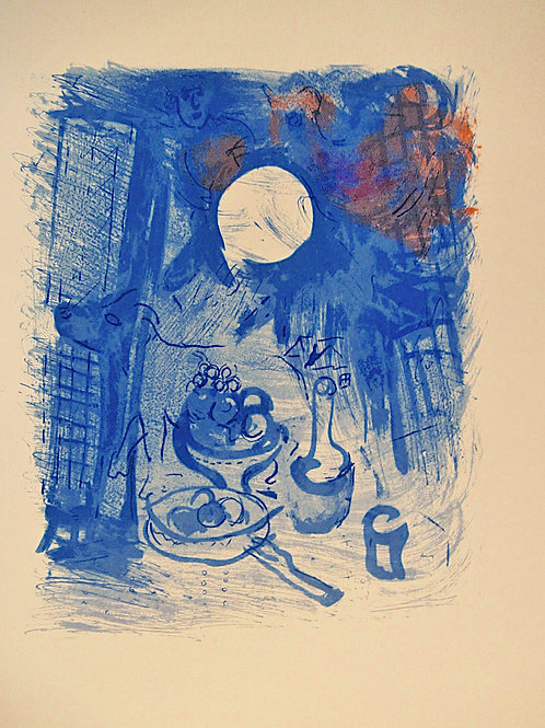 Marc Chagall, Still life in blue, 1952