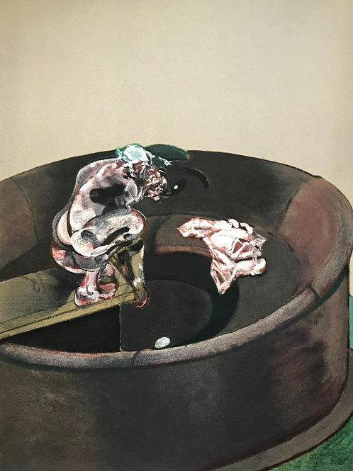 Francis Bacon, portrait of George Dyer crouching, 1966