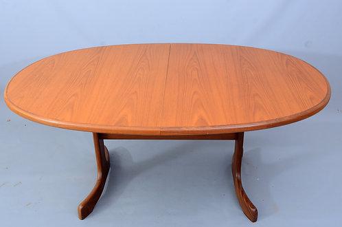 G Plan Fresco large oval extending teak dining table seats 8 people