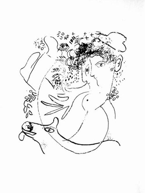 Marc Chagall, Les Deux Profiles, 1957