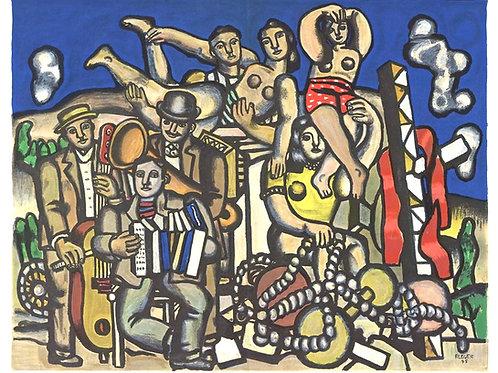 Fernand Leger, Les Musiciens, Derriere le Miroir, 1955