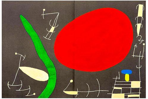 Joan Miro,  L'Oiseau Solaire, L'Oiseau Lunaire,  Etincelles, 1967