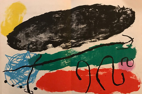 Joan Miró , untitled abstract, original lithograph, 1960