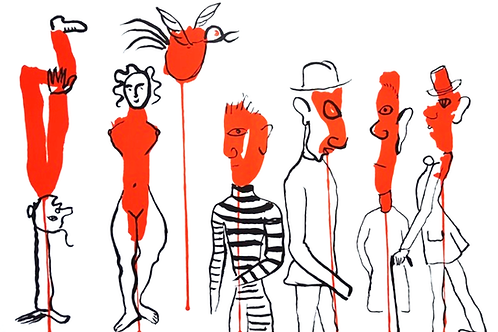 Alexander Calder, CIRCUS, 3 (Les Gueules Degoulinantes), 1966