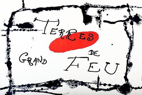 Joan Miró, Terres de Grand Feu, original lithograph, 1956