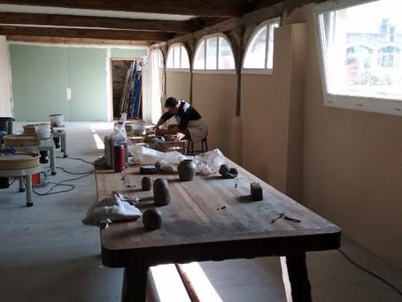 L'atelier de poterie du Château des Pères fait peau neuve !