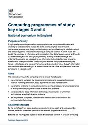 Computing Programmes of Study KS3 & KS4.