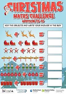 Christmas Maths Challenge Addition to 10