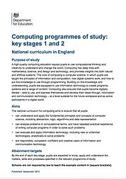Computing Programmes of Study KS1 & KS2.