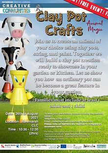 26_08_21 - Animal Magic - Clay pot Craft