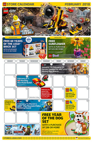 Lego 2019 February Calendar LEGO Store February Calendar | IttyBittyBlocks UK