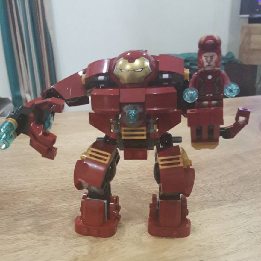 Hulkbuster and Iron Man