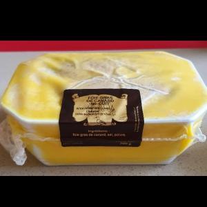 Terrine nature foie gras de canard mi-cuit