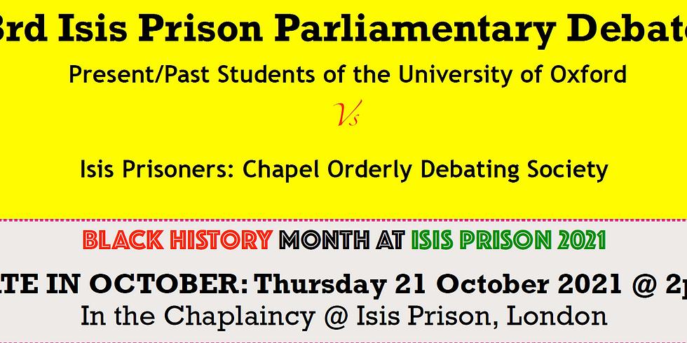 Isis Prison Parliamentary Debate