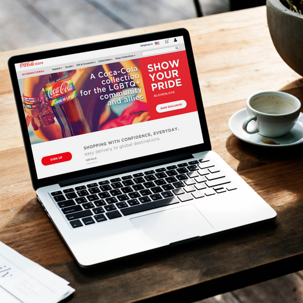 THE COCA-COLA INTERNATIONAL ONLINE STORE  LANDING PAGE REDESIGN