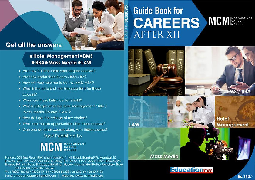 Careers After 12th SYJC MCM Classes Hotel Management BBA Law BMM