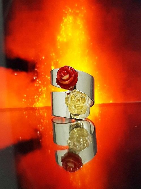 Anillo Rosas y Fuego