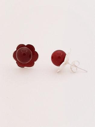 Topos Flor y Cornalina roja