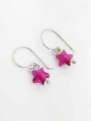 Mini Estrellas Fucsia Cristal