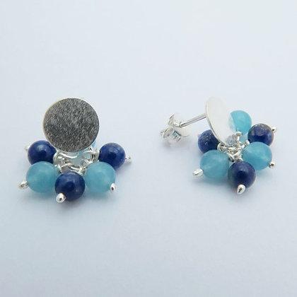 Topos en ramillete Lapis lazuli y cuarzo azul