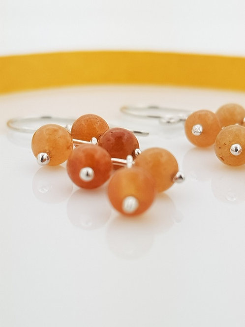 Aretes zig - zag Venturina naranja