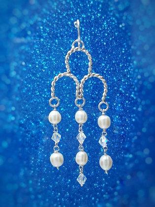 Aderezo Cascada de Perlas y Cristales