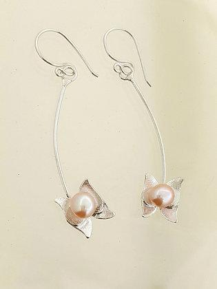 Aretes Mariposas y Perlas