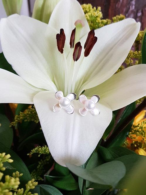 Topos flor 4 pétalos y Perlas